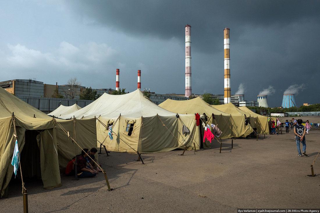 Палаточный лагерь в Москве