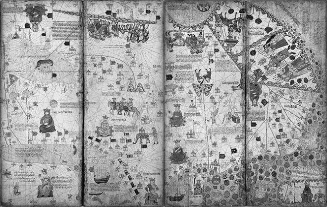 Азия на Каталонской карте мира